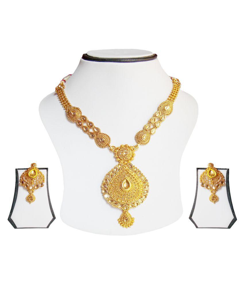 simbright floral floral necklace set