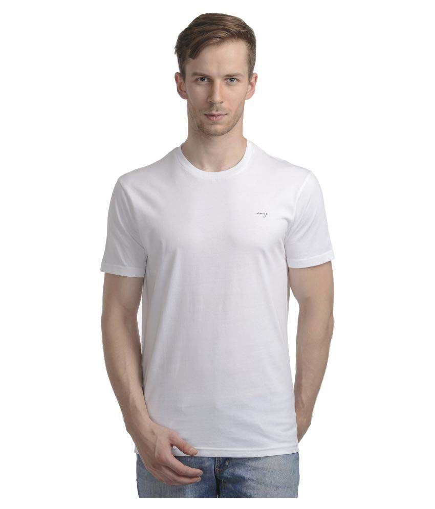 Wrig White Round T-Shirt