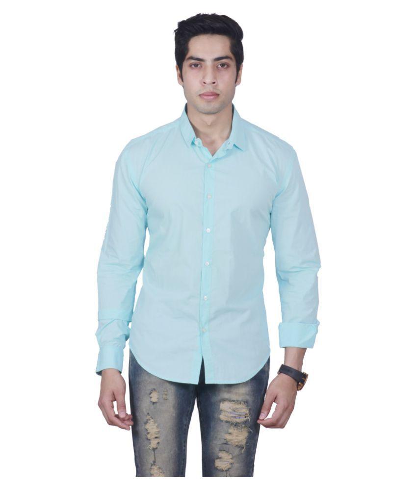 Manu Couture Blue Casual Regular Fit Shirt