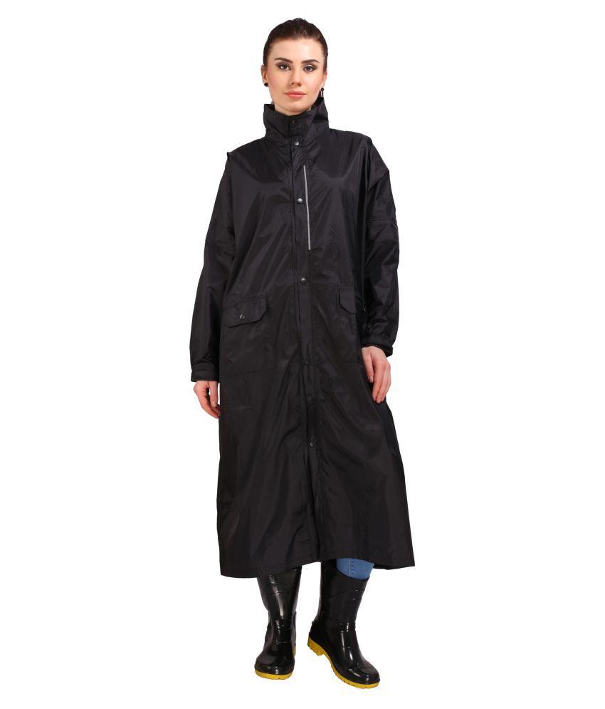 REAL Nylon Long Raincoat