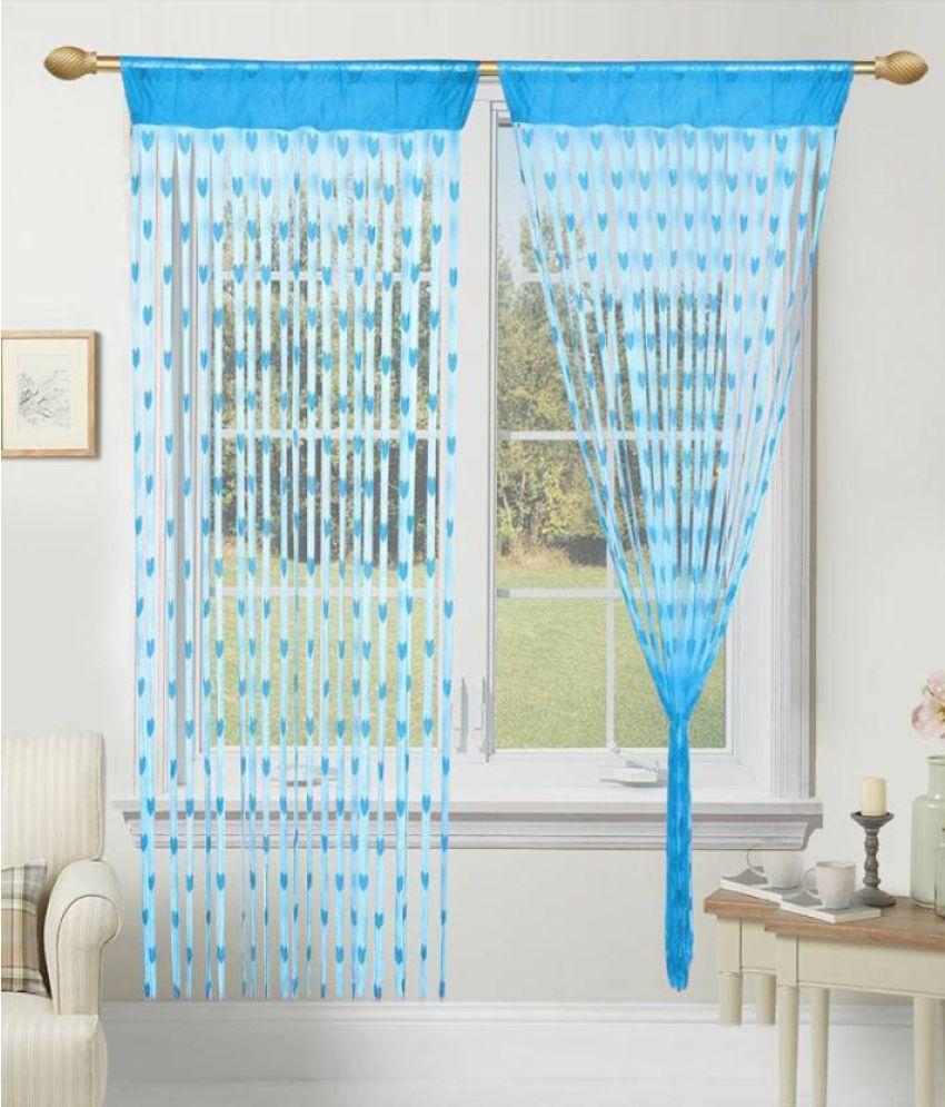 Ami Creation Set of 2 Door Heart String Curtain