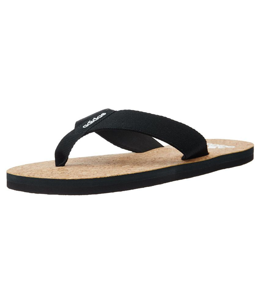 3ceda889e12c Adidas B79236 Black Thong Flip Flop Price in India- Buy Adidas B79236 Black Thong  Flip Flop Online at Snapdeal