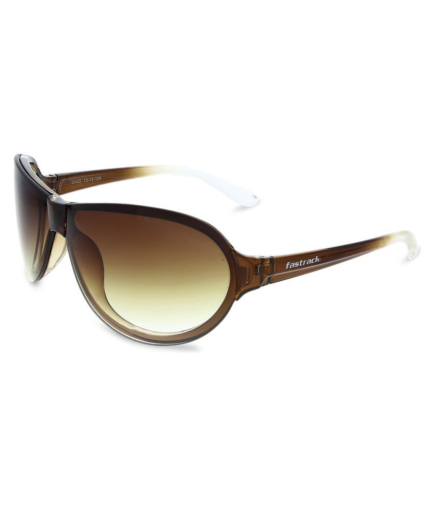 35fd8eacc2 Fastrack Brown Oval Sunglasses ( P349BR2 ) - Buy Fastrack Brown Oval ...