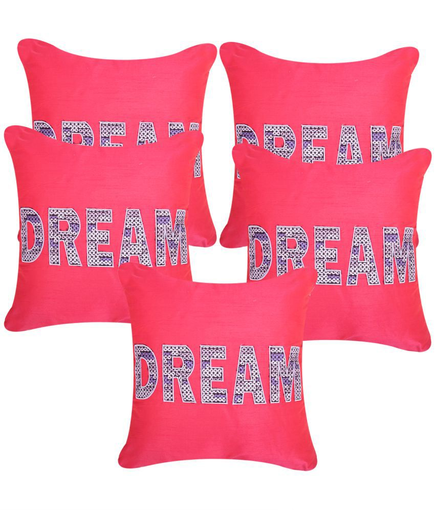 Homestory Set of 5 Polyester Cushion Covers 40X40 cm (16X16)