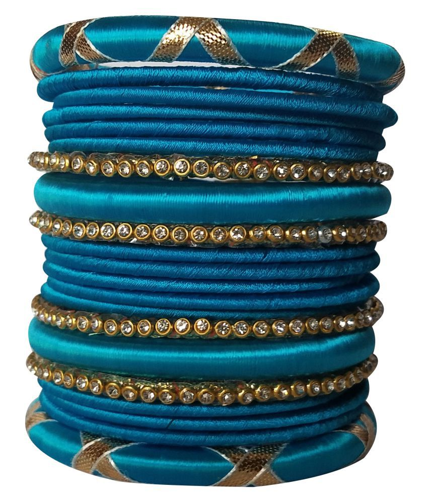 Kuhuk Handcrafted Silk Dori Bangle Set