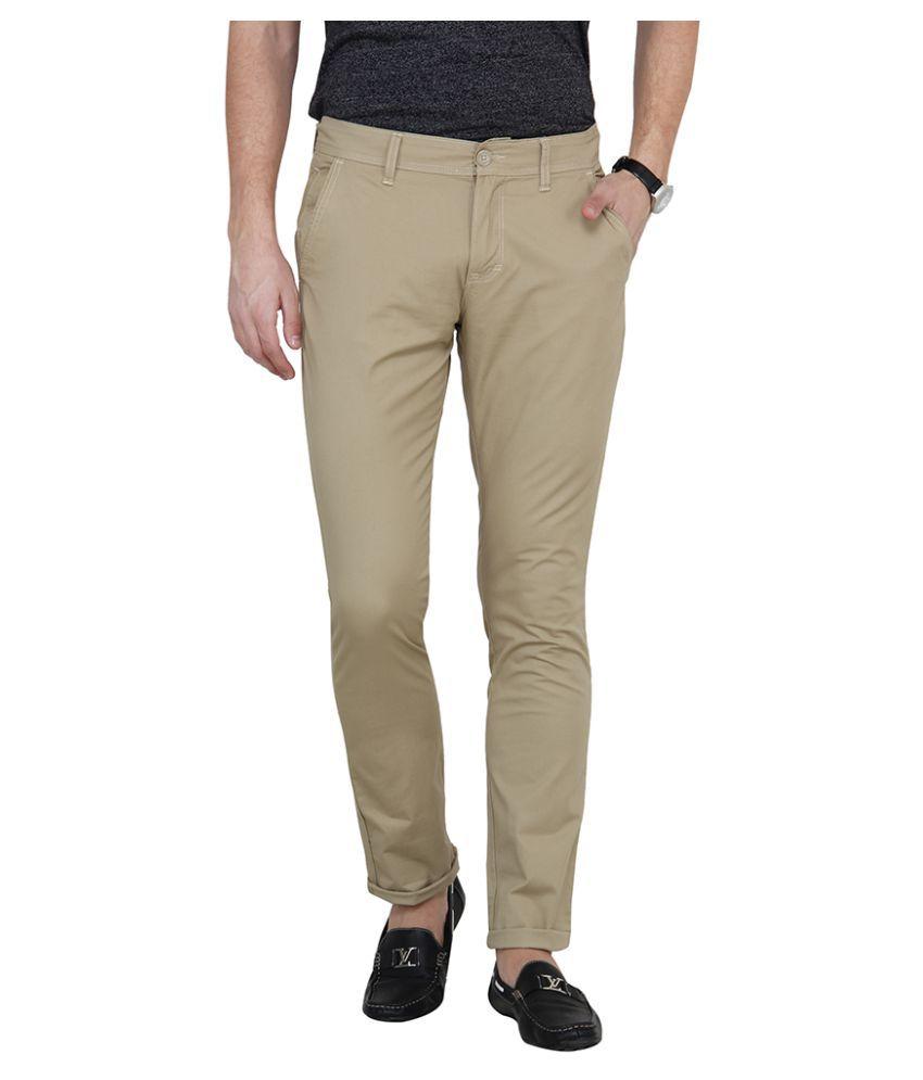 Pepe Jeans Khaki Slim -Fit Flat Chinos