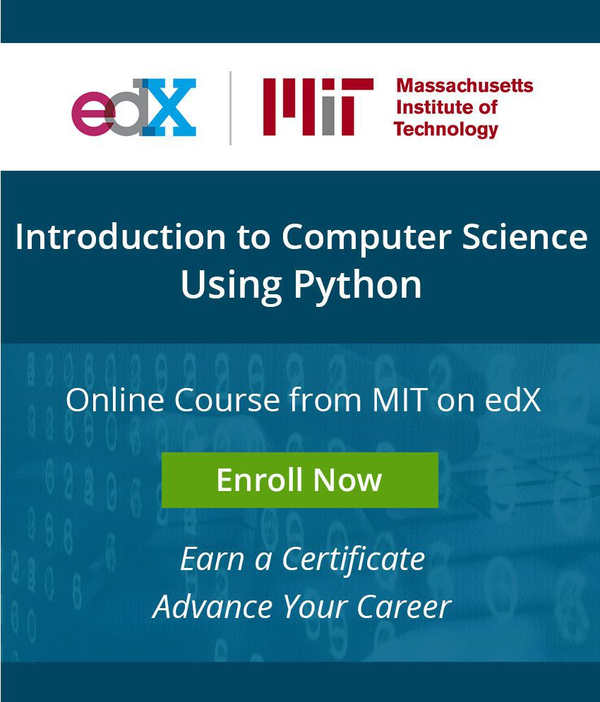 Certificate Course By Mit On Edx Introduction To Computer Science