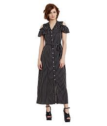 The Silhouette Store Poly Crepe Shirt Dress