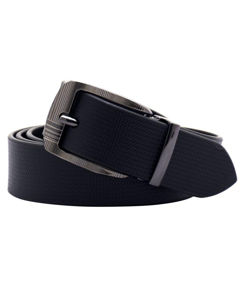 SRI Black Leather Formal Belts