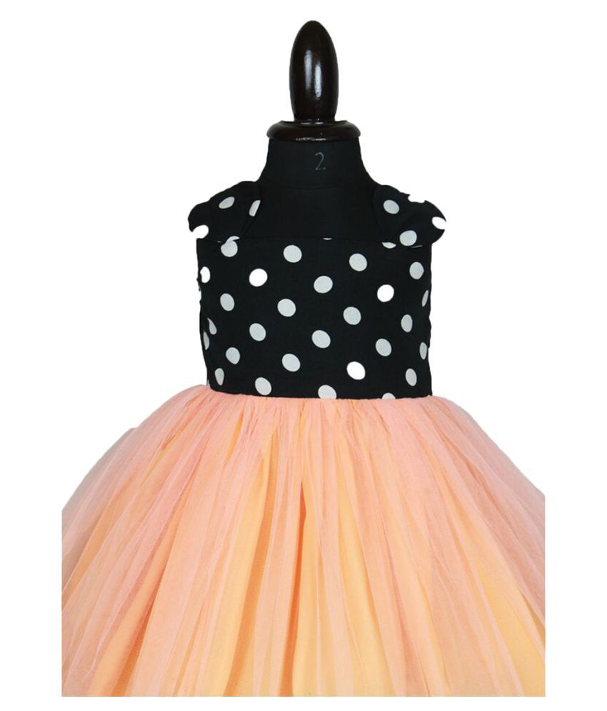 c11dbdf92 Forever Kidz Peach and Polka Minnie Party wear Dress For Baby Girls - Buy  Forever Kidz Peach and Polka Minnie Party wear Dress For Baby Girls Online  at Low ...