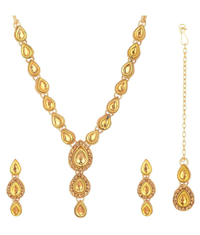 Reeti Fashions Artistically Crafted Gold Plated Copper Necklace Set
