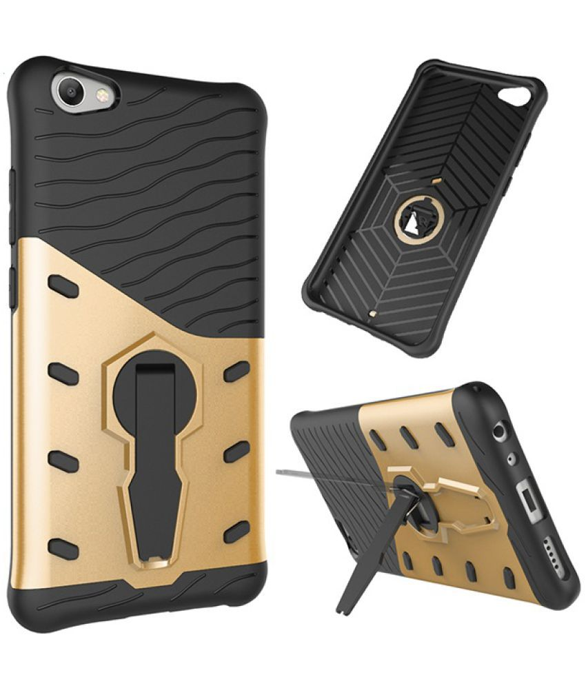 Vivo V5 S Shock Proof Case Colorcase - Golden