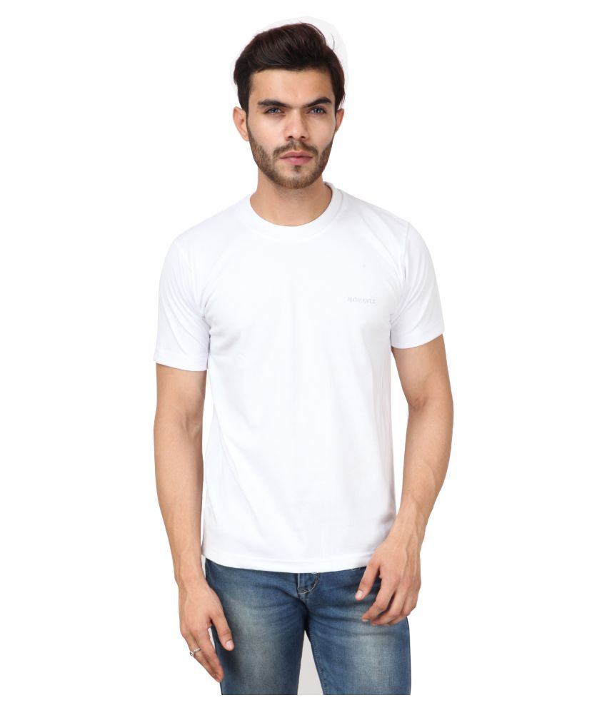 Moments T-Fit White Round T-Shirt