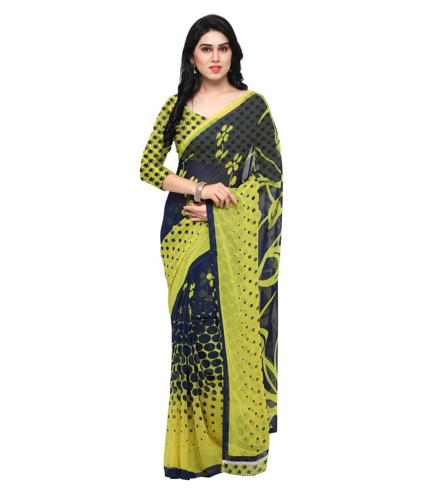 Shivam Synthetics Multicoloured Georgette Saree