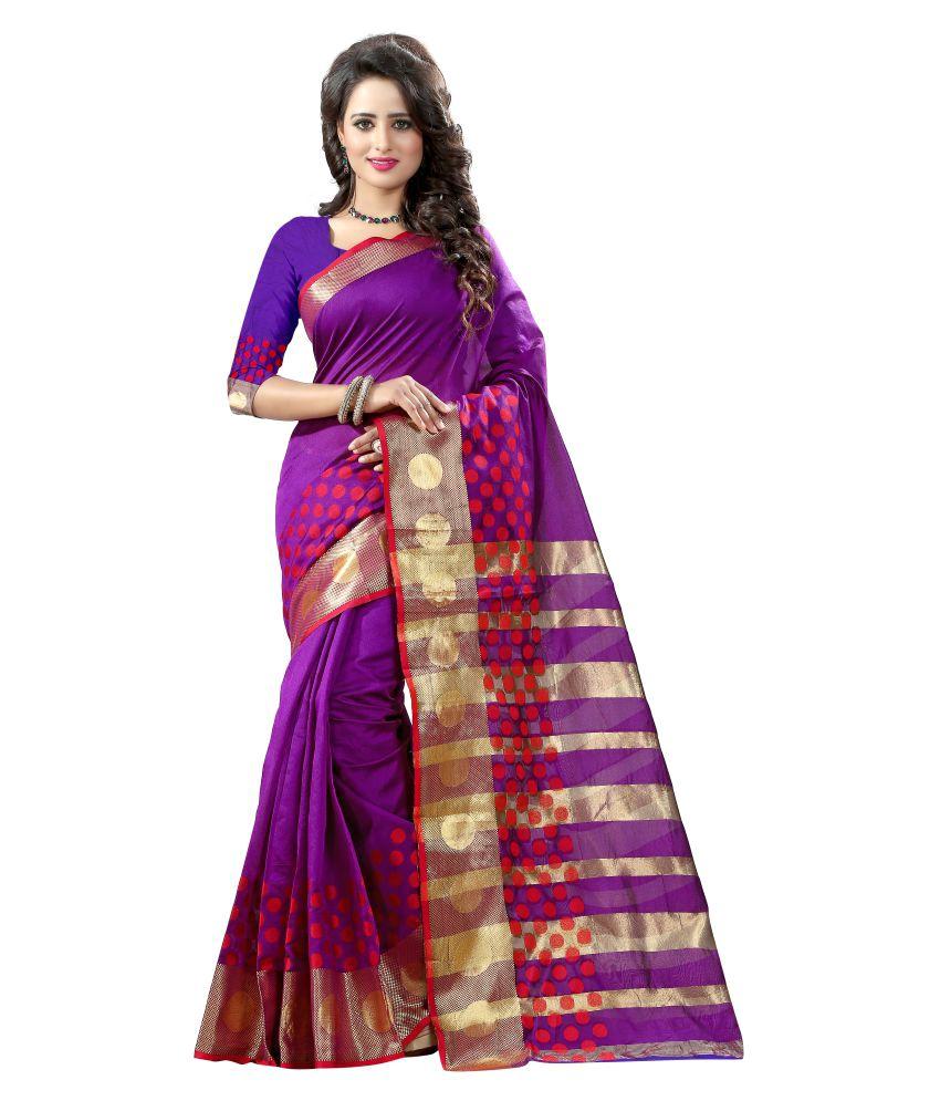 Star Enterprise Purple Tussar Silk Saree