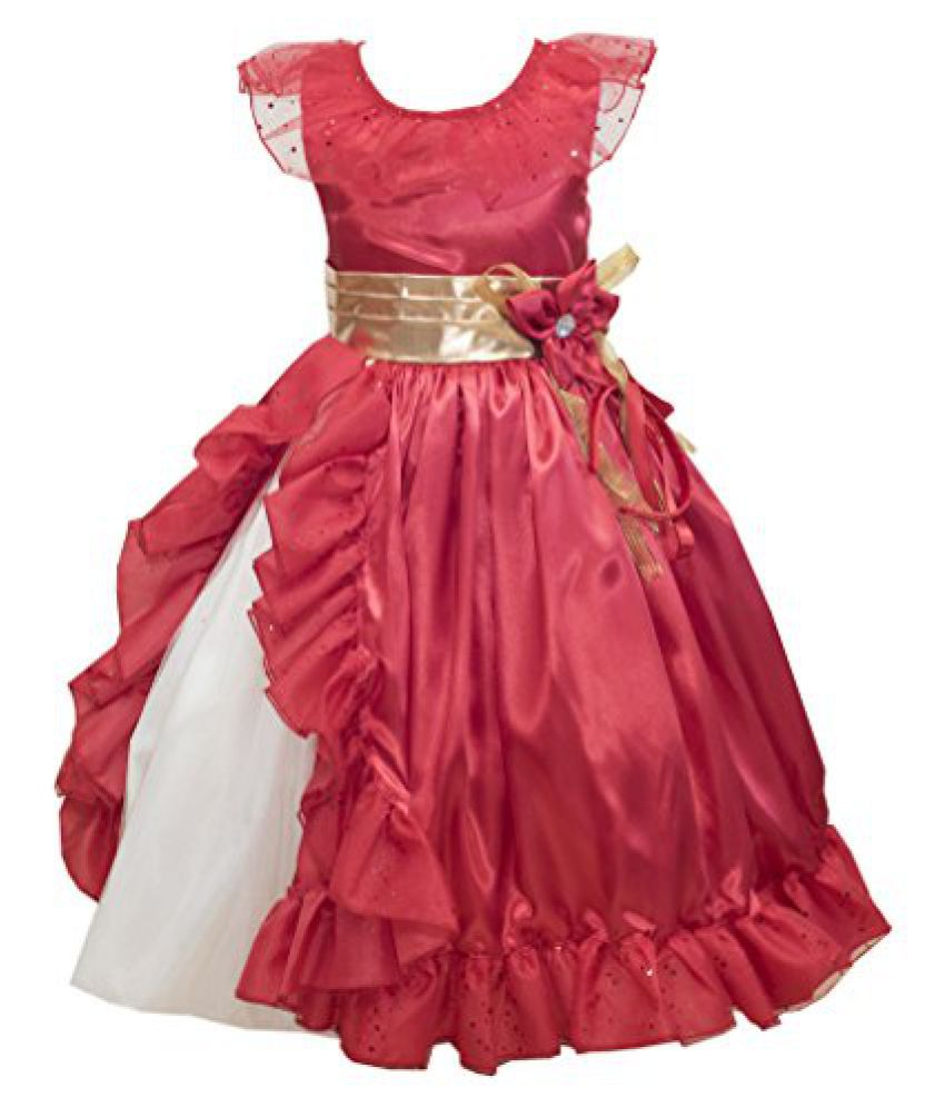 Fairy Dolls Girls Party Wear long Gown Baby Girls Party Wear dress ...