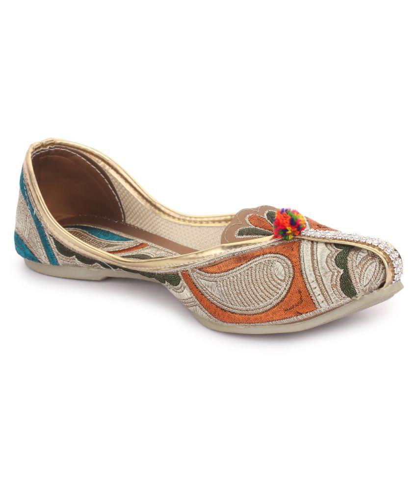 Sindrella Steps Multi Color Flat Ethnic Footwear
