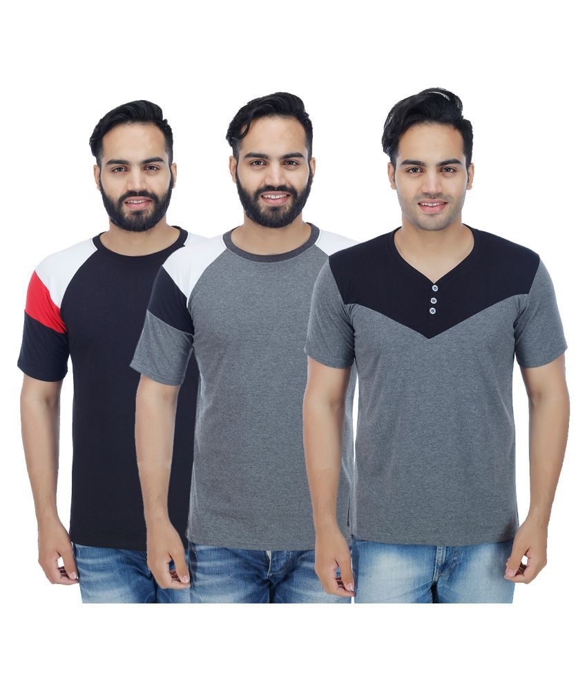 Christy World Multi Round T-Shirt Pack of 3