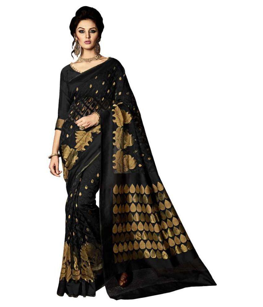 Kumaran Silks Black Jute Saree