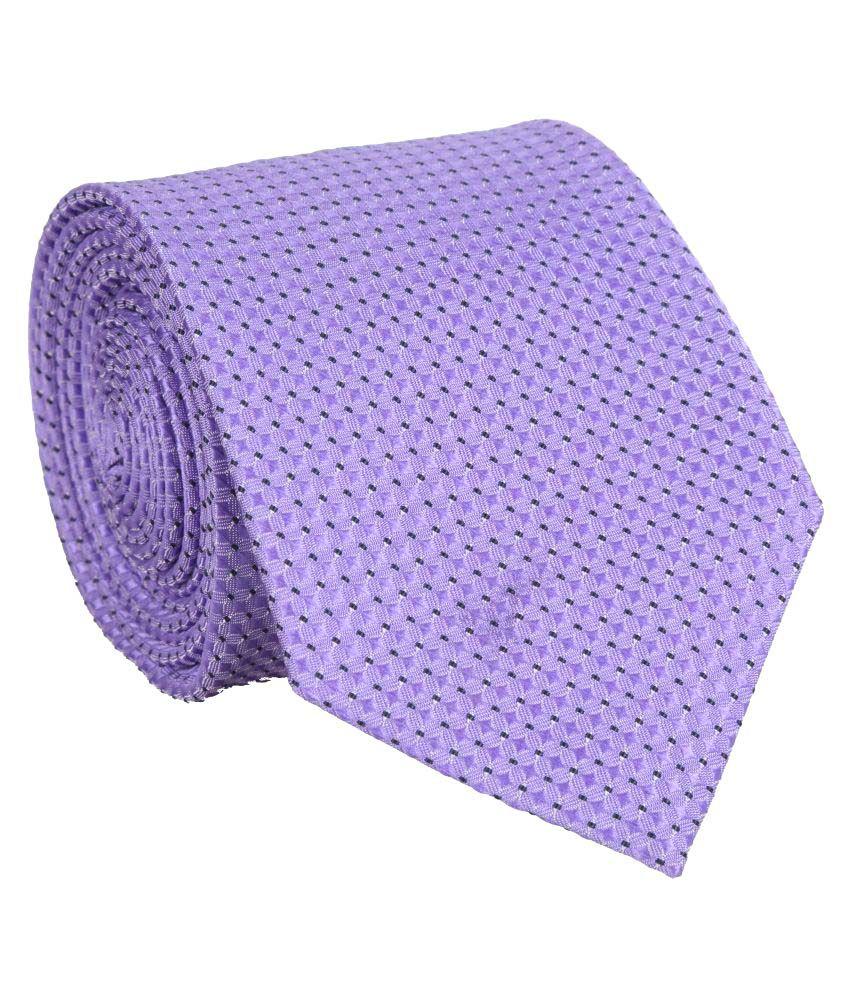 Bombay High Purple Printed Polyester Necktie