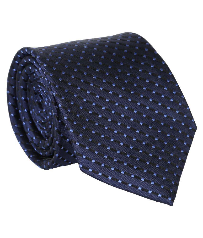 Bombay High Blue Printed Polyester Necktie
