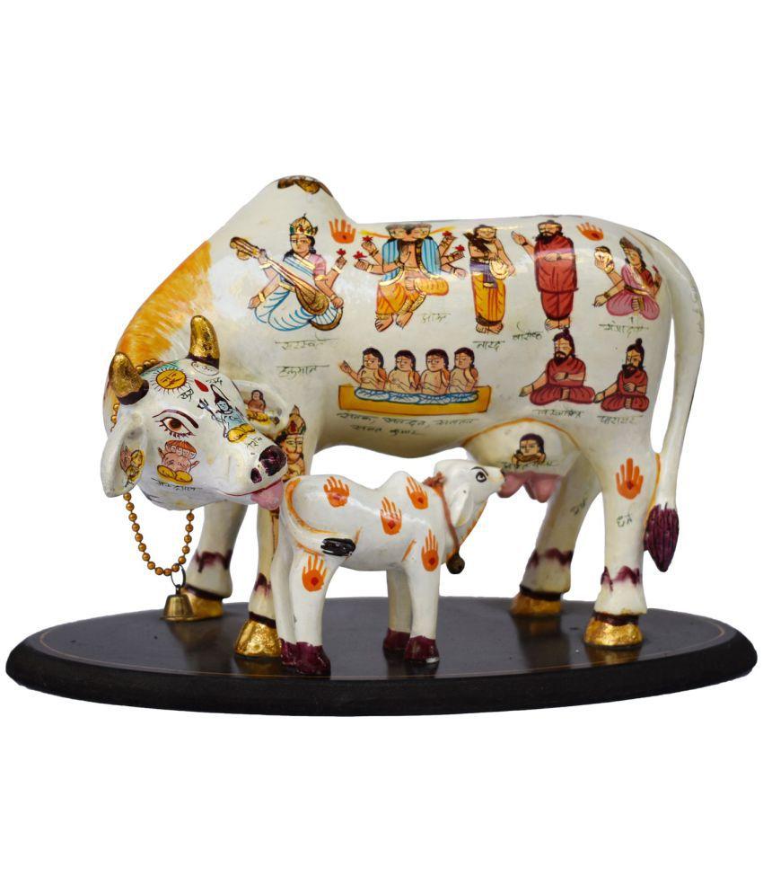 Gallery99 Kamdhenu Cow Marble Idol