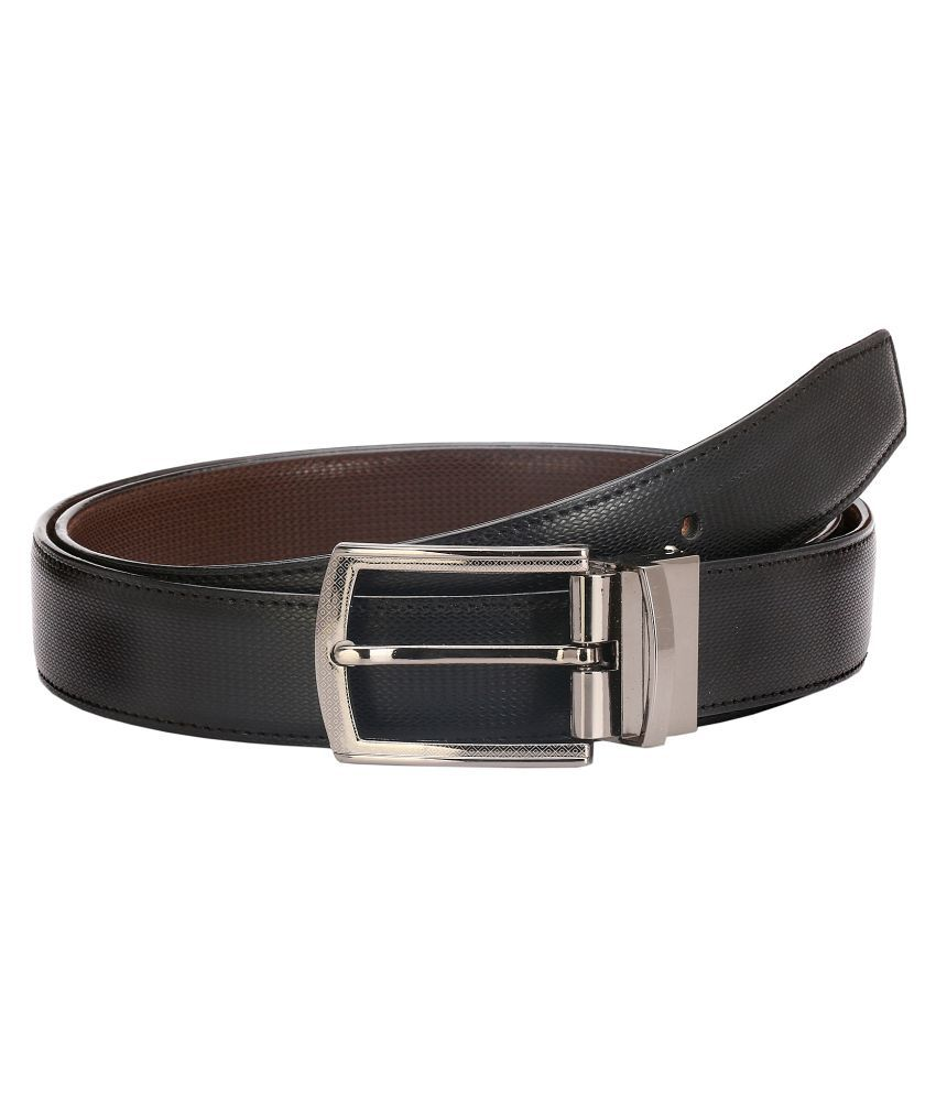 Lewyr Black Leather Formal Belts