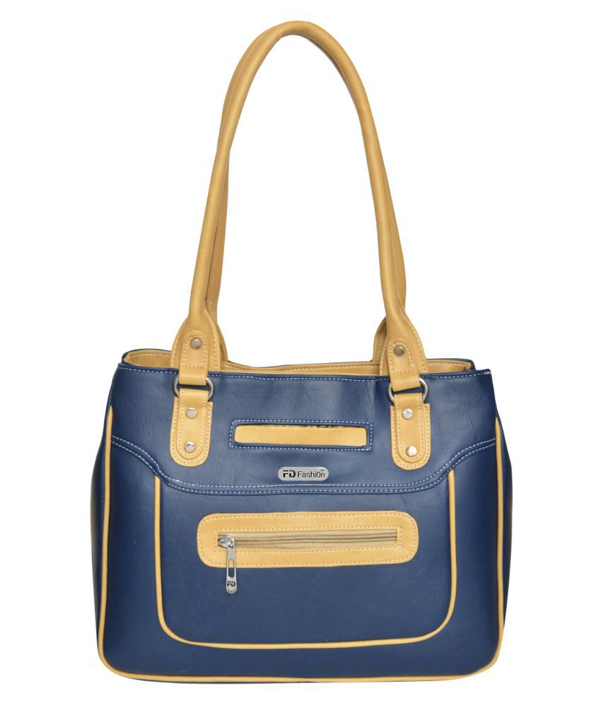 FD Fashion Blue P.U. Shoulder Bag