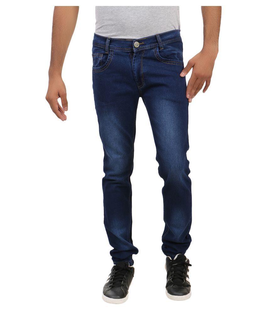 Remake Blue Regular Fit Jeans