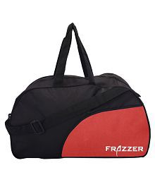 Frazzer Red Printed Duffle Bag