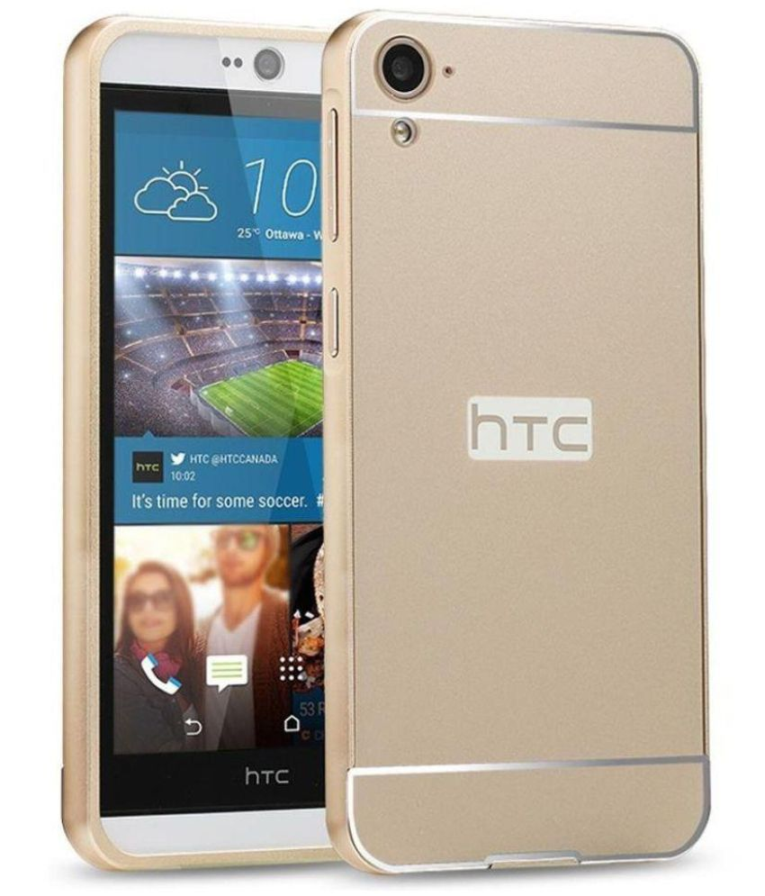 HTC Desire 826 Mirror Back Covers Bright traders - Golden