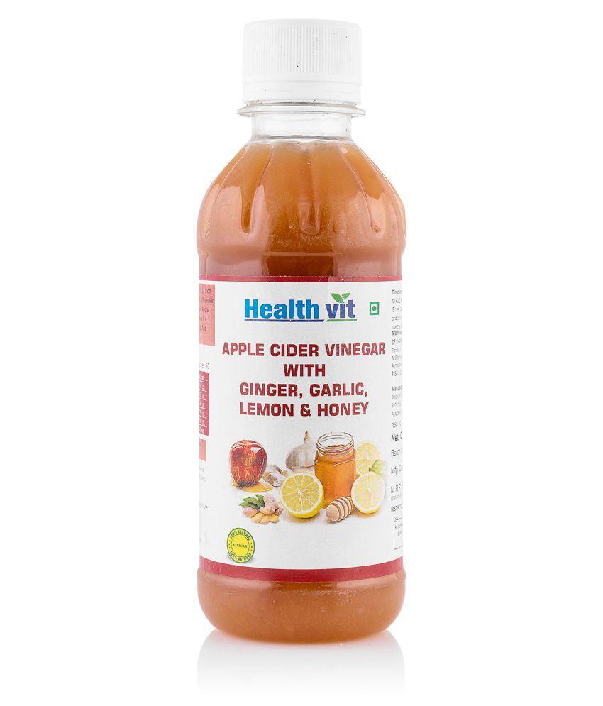 HealthVit Apple Cider Vinegar Ginger,Garlic,Lemon & Honey Syrup 250 ml