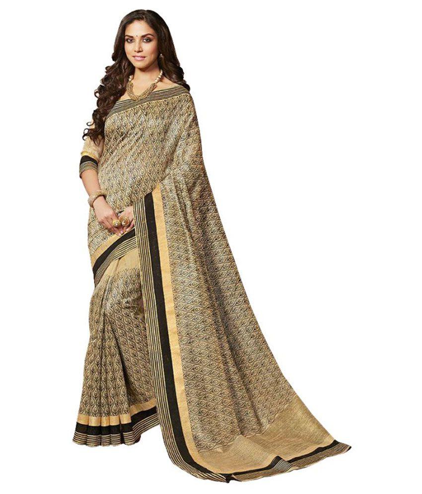Areum Multicoloured Bhagalpuri Silk Saree