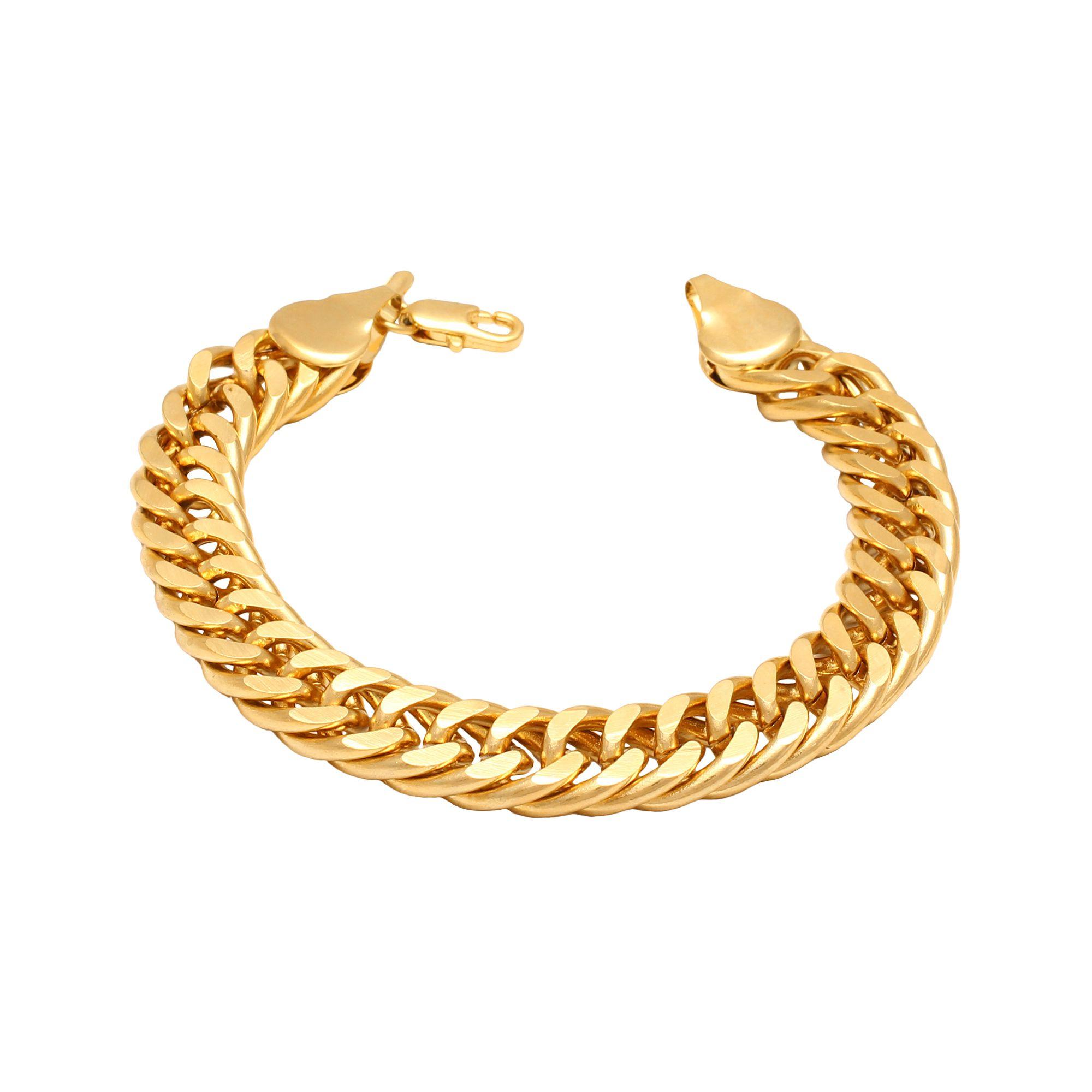 Memoir Brass Gold plated Cuban curb link heavy Bracelet