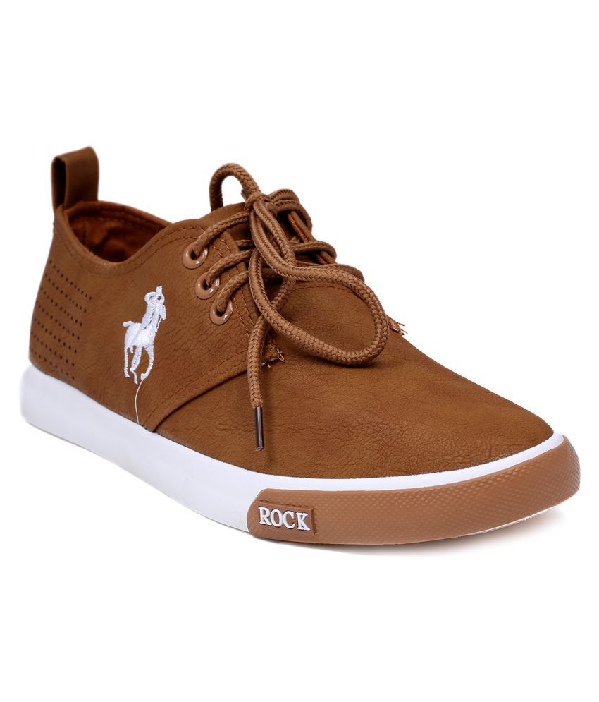 30cd24493b02 Rocks Polo Lifestyle Brown Casual Shoes - Buy Rocks Polo Lifestyle Brown  Casual Shoes Online at Best Prices in India on Snapdeal
