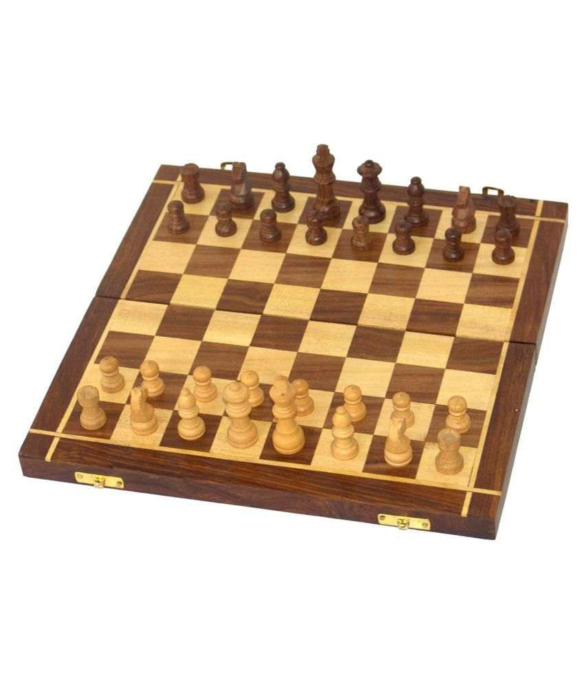 Al Marjaan Handicraft Wooden Multicolor Chess M