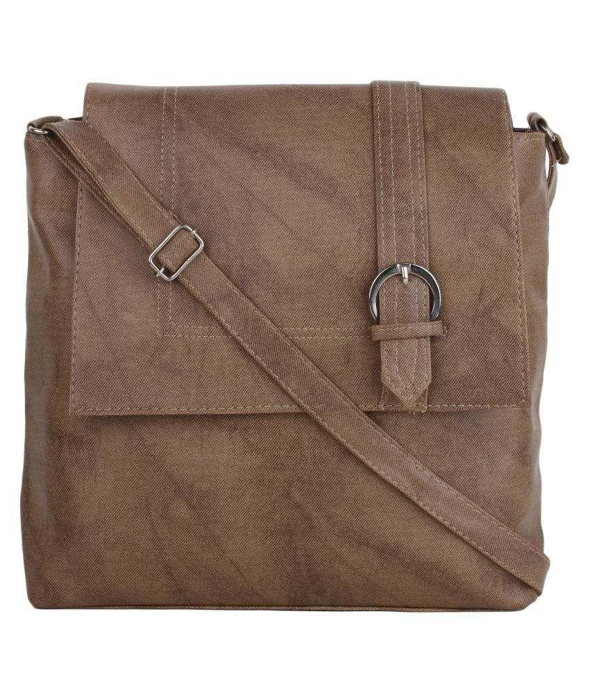 Vogue Street Khaki P.U. Sling Bag