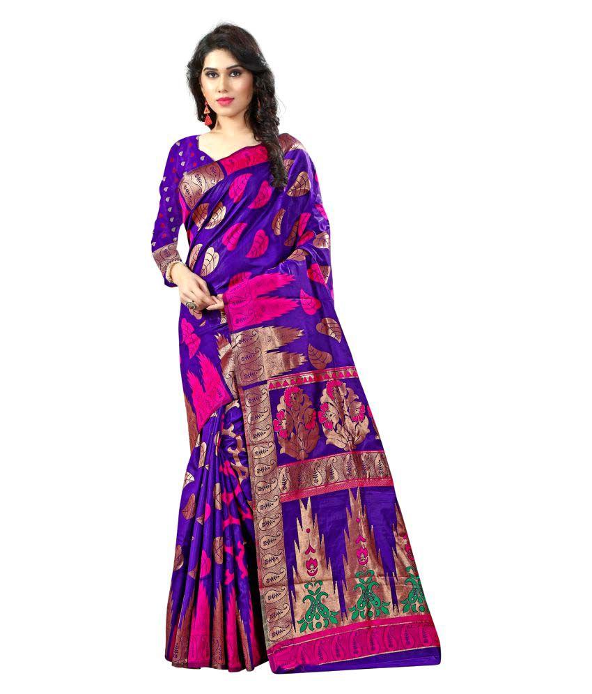 Nimi Fashion Purple Kanchipuram Saree