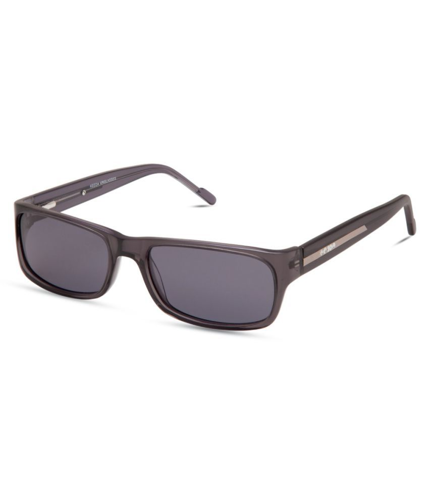 Keeda Black Rectangle Sunglasses ( ML_06_GRY )