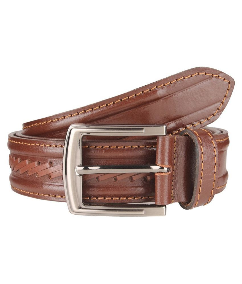Leatherwala Brown Leather Party Belts