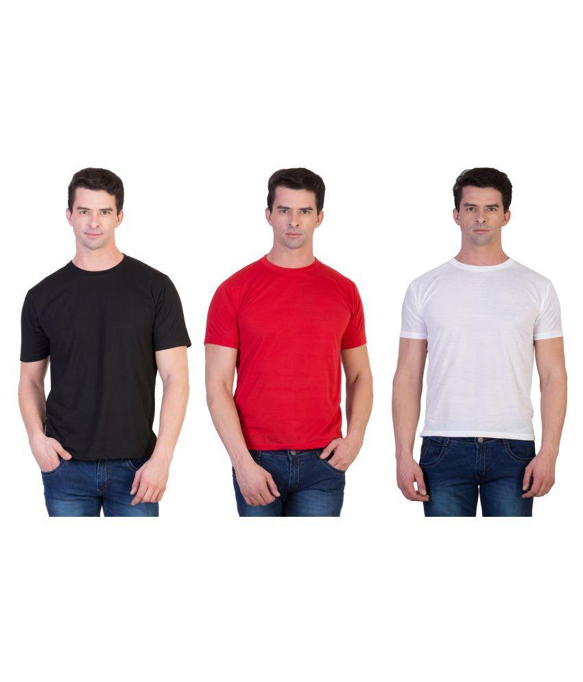 Kristof Multi Polyester T-Shirt Pack of 3