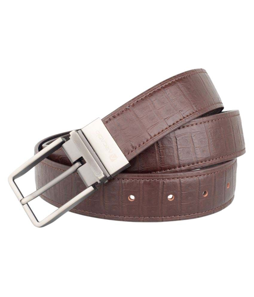 Arcadio Brown Leather Formal Belts