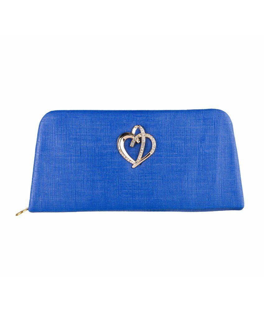 Louise Belgium Blue Regular Wallet