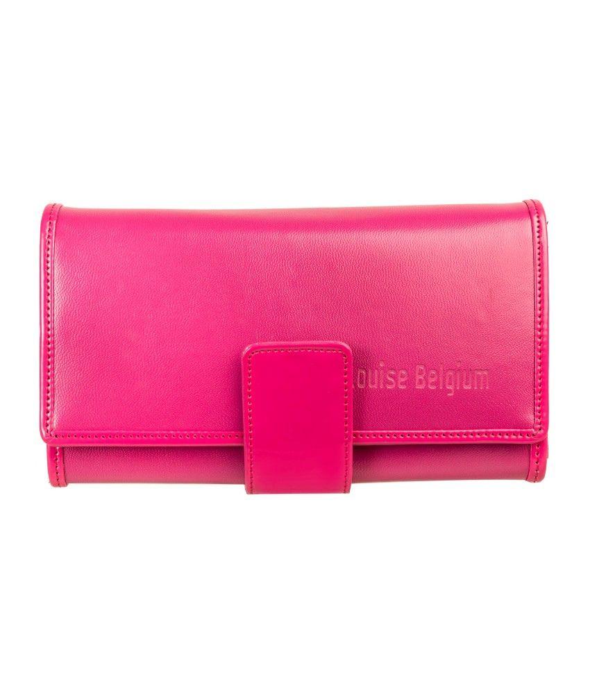 Louise Belgium Non Leather Pink Women Regular Wallet