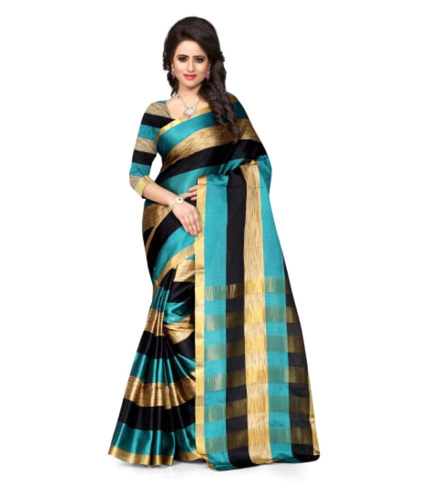 Omstar Fashion Multicoloured Cotton Silk Saree
