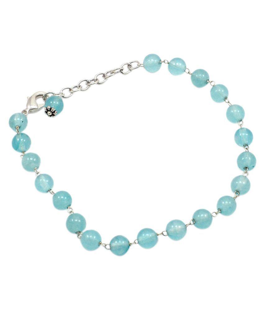 Silvestoo India Sky Blue Quartz Gemstone Bracelet PG-107783