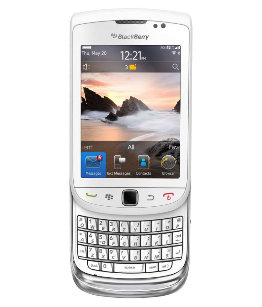 Gobernable continuar Adición  Blackberry Torch 9800 ( 4GB , 512 MB ) White Silver Mobile Phones Online at  Low Prices | Snapdeal India