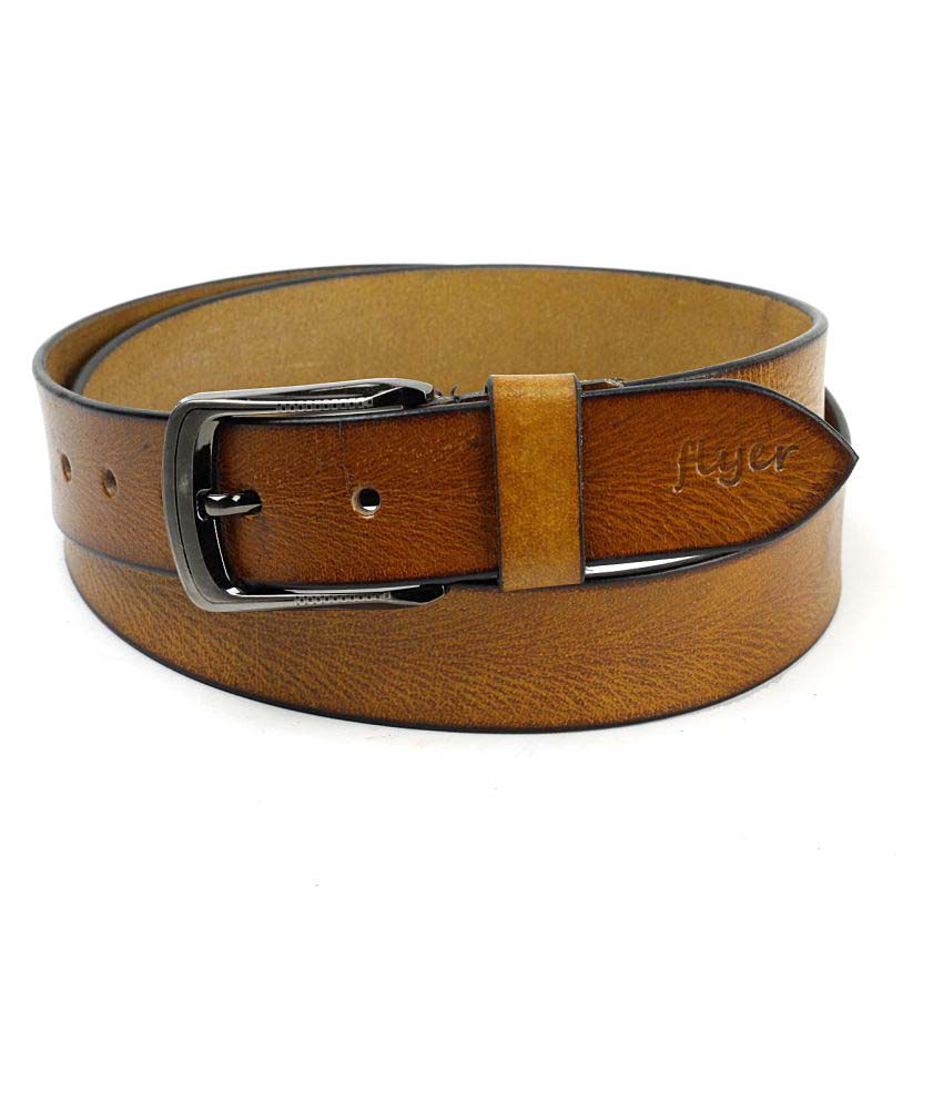 Flyer Tan Leather Formal Belts