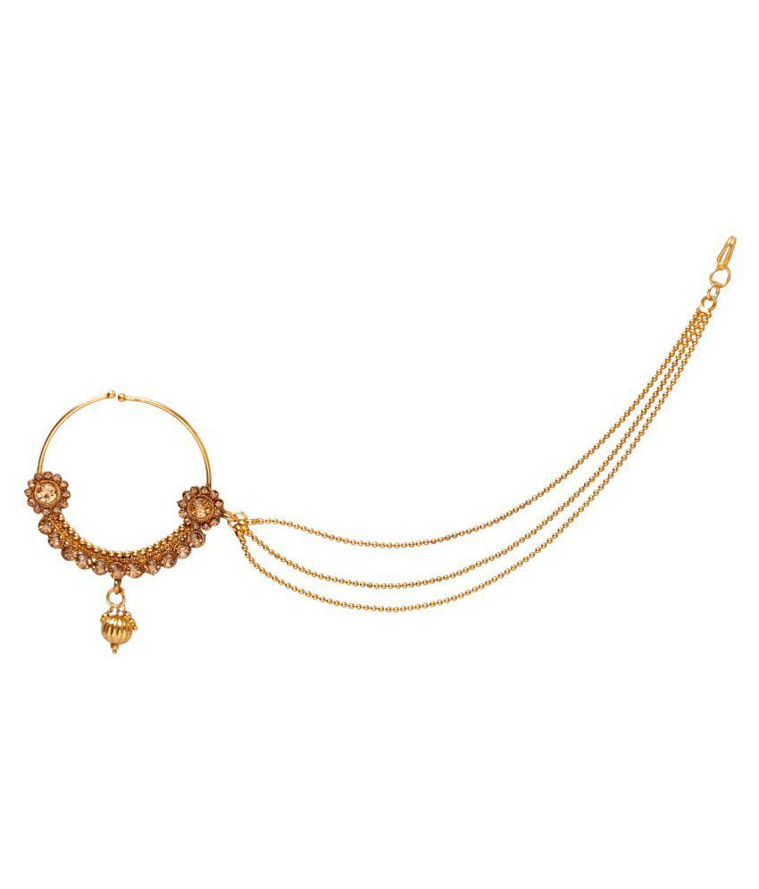 Jewels Gehna Alloy Fashion Designer Stylish Bridal Nath Set For ...