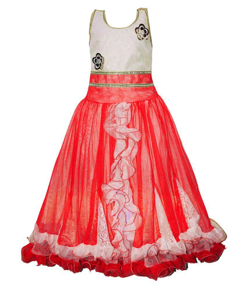 AD & AV Partywear Frock For Girls-REDDESIGNER_FROCK_32